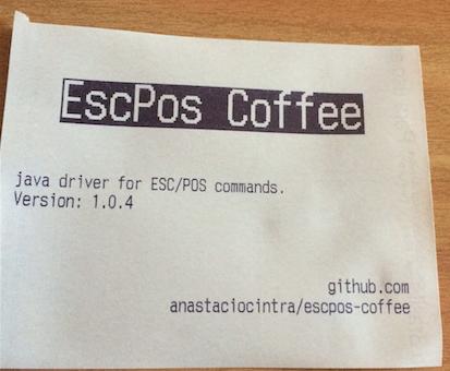 escpos-coffee | Java library for ESC/POS